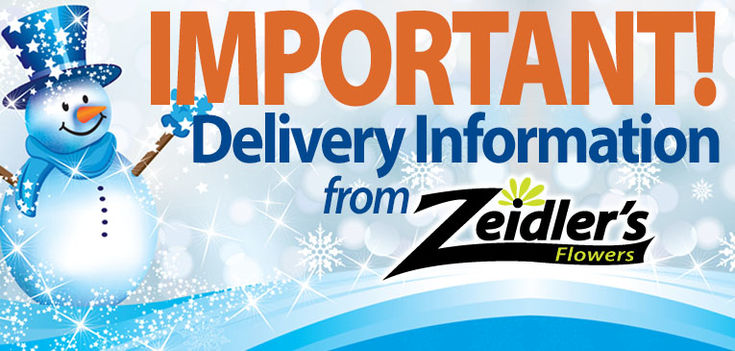 All Deliveries have currently been suspended due to the weather conditions.