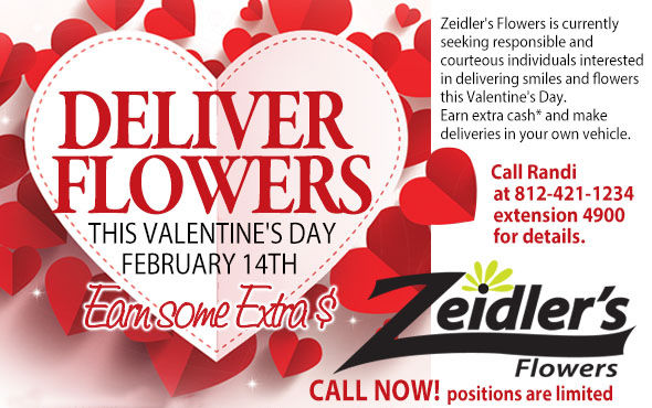 Be a driver for Zeidler's Flowers